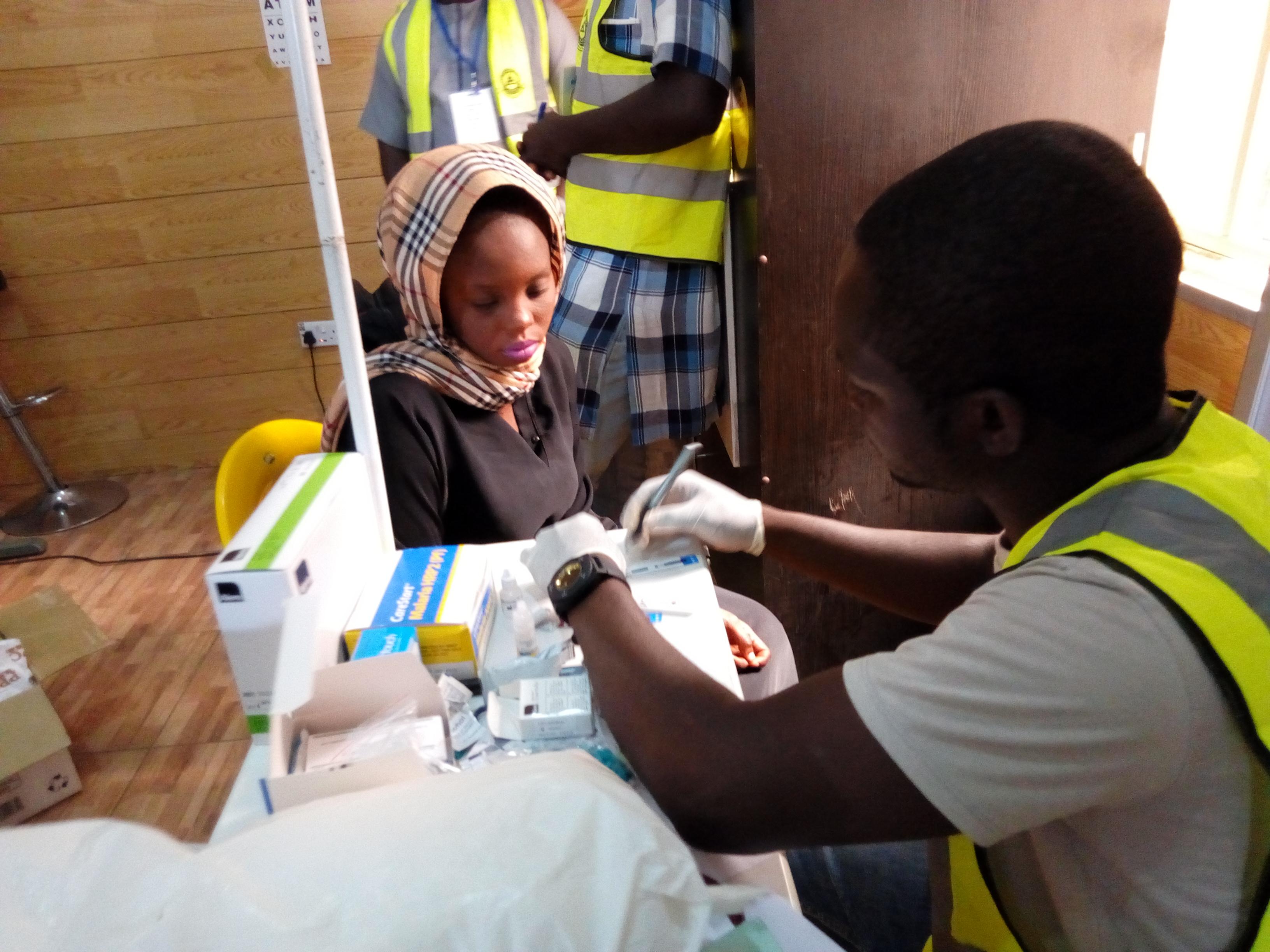 Free health screening in Gombe